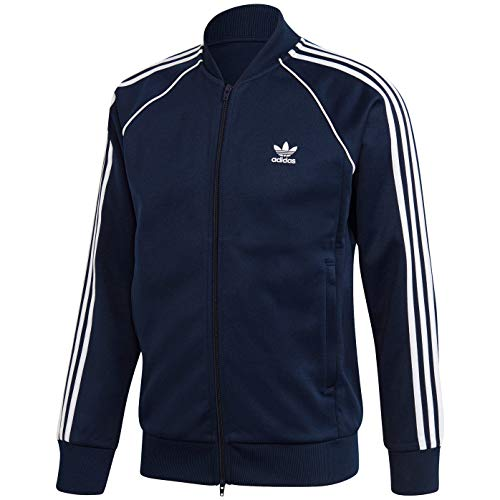 adidas Originals mens Adicolor Classics Primeblue SST Track Jacket Collegiate Navy/White Medium