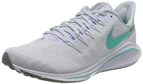 Nike Wmns Air Zoom Vomero 14, Scarpa da Corsa Donna, Calcio Grigio/Aurora Verde-Bianco, 39 EU