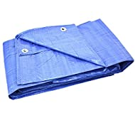 Blue 3 m x 4 m (9.5 ft x 13 ft) 80 GSM Tarpaulin Ground Sheet Heavy Duty Perfect For Farm , Garden , Body Shop, Garage, Boatyard and Leisure use, Ideal for covering outdoor and also for Indoor Use.
