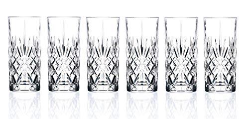 RCR 25766020006 Melodia Cocktail- und Wassergläser aus Kristall, 350 ml, 6er-Set