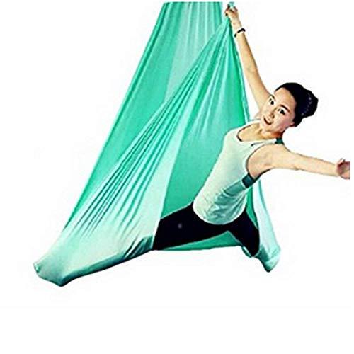 Yontree Yoga Hängematte Set Anti-Gravity-Schwingen Aerial Yoga Fitness Tuch 500 * 280cm (grün)