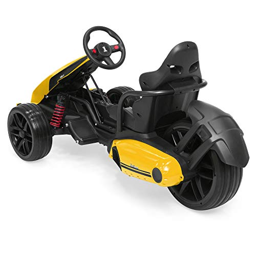 Best Choice Products 12V Kids Go-Kart Racer Ride On Car w/Push-to-Start, Foot Pedal, 2 Speeds, Spring Suspension -Yellow
