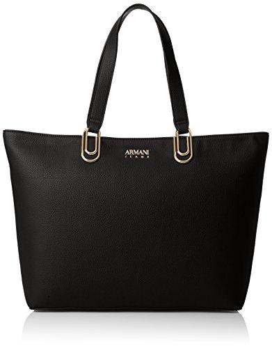 Armani Jeans Damen Borsa Shopping Tote, Schwarz (Nero), 30x12x46 cm
