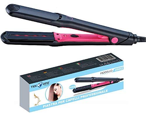 Plancha para el pelo con infrarrojo profesional, alisado o rizado, protege el cabello, con temperatura de 160 a 220 ℃