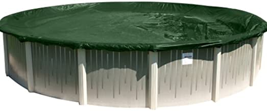 Buffalo Blizzard Split Blocker Winter Cover for 18-Foot Round Above-Ground Swimming Pools | Green/Black Reversible | 4-Foot Additional Material | Rip-Proof Technology