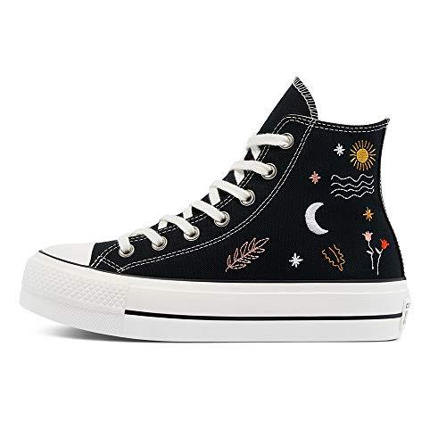 Converse CTAS LIFT HI - Zapatillas bajas unisex para adultos, color Negro, talla 37.5 EU