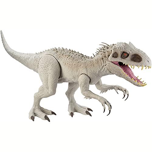 Jurassic World- Indominus Rex Super Colossale, Dinosauro Alto 21,5 cm e Lungo 58 cm circa, con Luci e Suoni Giocattolo per Bambini, 4 + Anni, GNH95