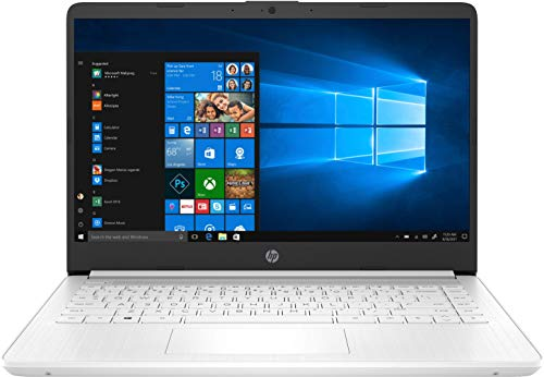 "HP 14s-dq1002ns - Ordenador portátil de 14"" FullHD (Intel Core i3-1005G1, 4 GB de RAM, 128 GB SSD, Intel UHD Graphics, Windows 10) Blanco - teclado QWERTY Español"