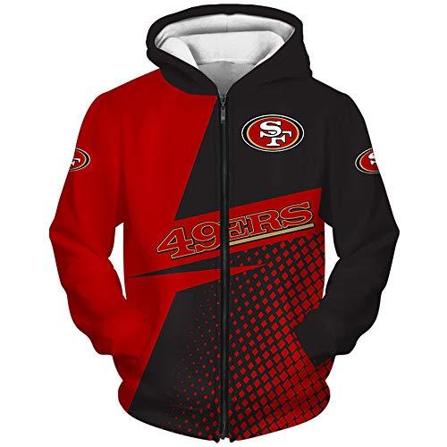 domorebest NFL Jersey San Francisco 49Ers Fan Tops Herren/Damen 3D Print Pullover Sweatshirt
