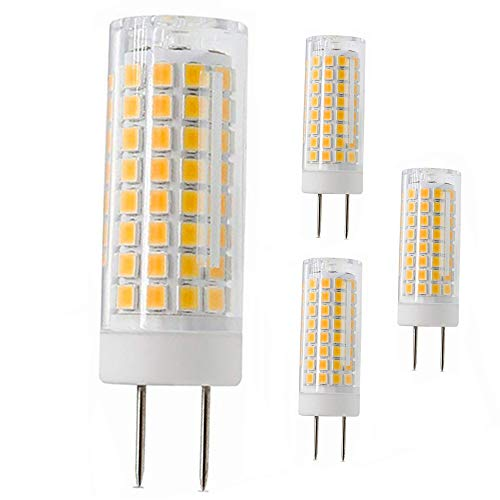 G8 Led Bulb, All New 75W Halogen Bulb Replacement, Dimmable 7W T4 G8 Led Lamps, G8 Bi-pin Base Bulb, AC120V 720lm, Under Cabinet Counter Light, Kitchen Lighting and Puck Lights, Warm White 4pack