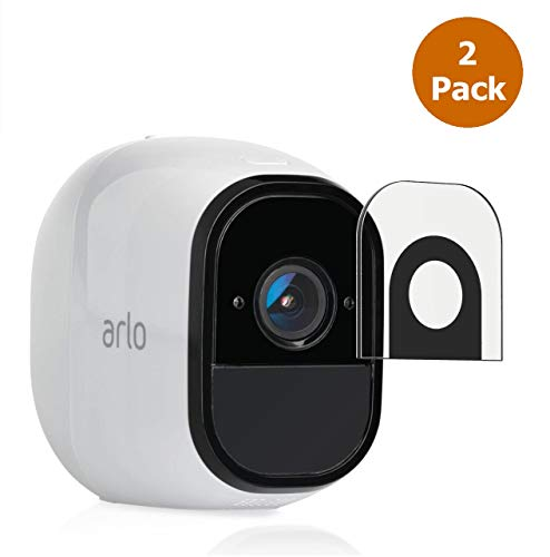 Lens Protection for Arlo Pro, Arlo Pro 2, Anti-Scratch, Waterproof, Dust-Proof, Indoor or Outdoor, Video High Definition HD-Clear PET Nano Glass Film Arlo Protector (2 Pack)