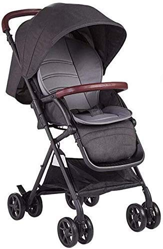 Fantastic Deal! Baby Stroller Baby Carriage Can Sit Horizontal Portable Folding 4 Wheel Shock Absorb...