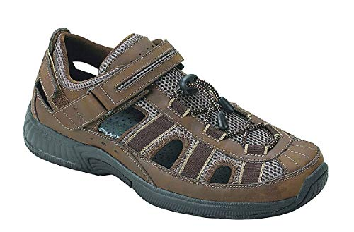 Orthofeet Plantar Fasciitis Pain Relief. Extended Widths. Arch Support Orthopedic Diabetic Men's Sandals Clearwater Brown