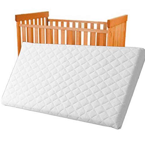 Baby materasso per lettino da viaggio 120x 60x 10cm trapuntato traspirante anallergico–schiuma densità 25HC Made in UK materasso