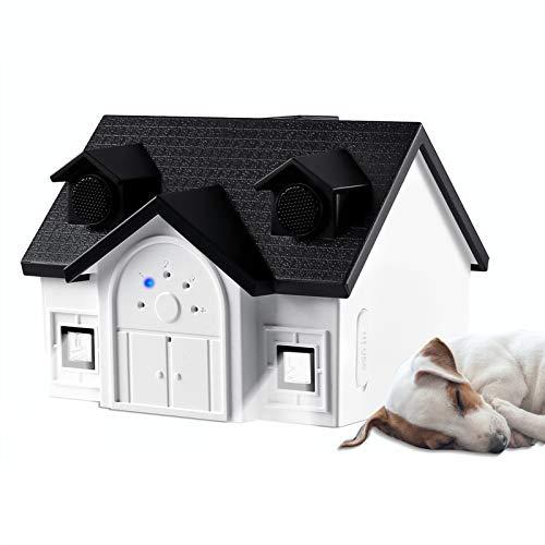 LKcare Dog Barking Deterrent Devices,Ultrasonic Anti Barking Devices, Stop Dog Barking with 4 Adjustable Mode, Waterproof Harmless Bark Stopper for Most of Dog Breeds Sonic Barking Deterrent