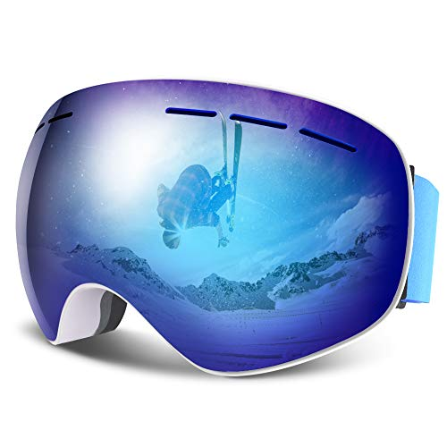 HAUEA Gafas Esquí Gafas Esquí Snowboard Mujer Hombre,Máscara