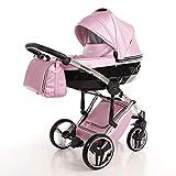 Cochecito de bebé Junama Diamond Fluo Line 2en1 carro duo capazo+silla (rosa)