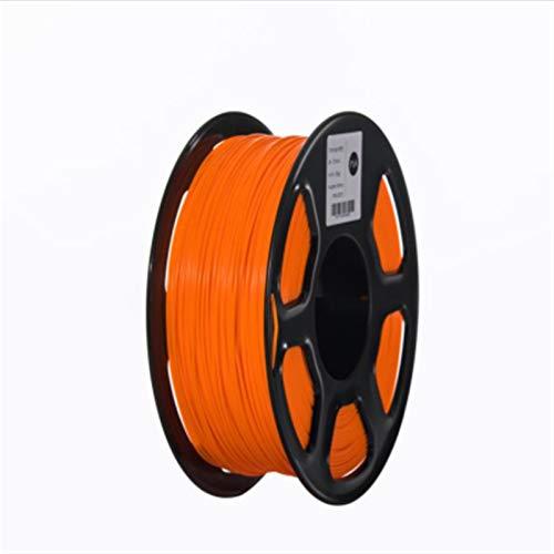 ABS Filament 3D Drucker Filament 1,75mm 1kg Druckmaterialien 3D Kunststoffdruck Filamentorange (Color : Orange)