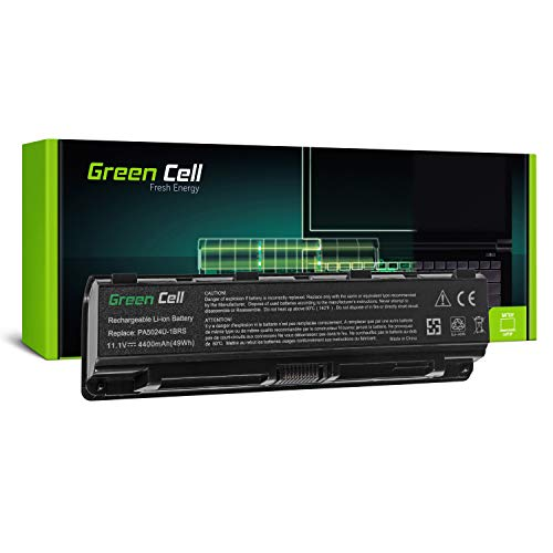 Green Cell® Standard Serie PA5024U-1BRS PA5109U-1BRS PA5110U-1BRS Batería para Toshiba Satellite C50-A C55-A C55D C55t C855D C875 L850D L875 L875D Ordenador (6 Celdas 4400mAh 11.1V Negro)