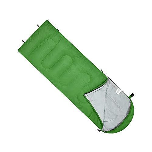 Saco de dormir individual persona 3-4 temporada adulto niño sobre estilo verde