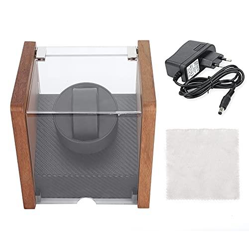 Colector de relojes, 2 modos de fuente de alimentación Enrollador de reloj para polvo(1+0 walnut table shaker, Transl)