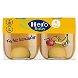 Hero baby natur tarritos de puré de frutas variadas para bebés a partir de 4 meses pack de 6 de 2 x 120 g