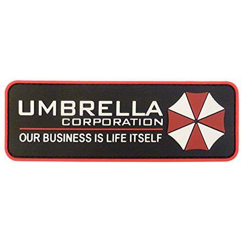 2AFTER1 Umbrella Corporation Resident Evil Cosplay PVC Rubber 3D Fastener Patch