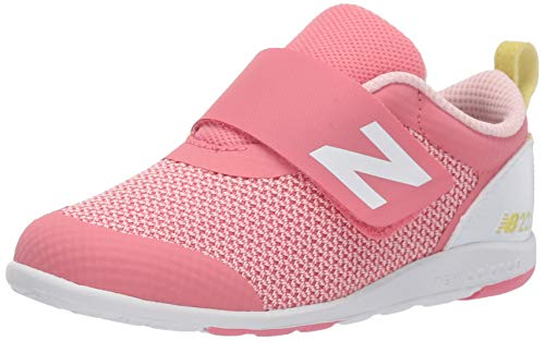 New Balance Kid's 223 V1 Hook and Loop Sneaker, Coral, 3.5 XW US Toddler
