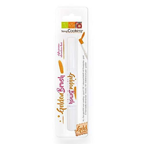ScrapCooking - Stylo Pinceau Alimentaire Rose Doré 2 ml
