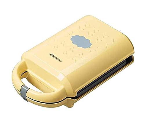 Frühstück Maschine, 460W Home Mini Toaster Multi-Funktions-Sandwich-Hersteller, mit Überhitzungsschutz, Gelb kshu (Color : Yellow)