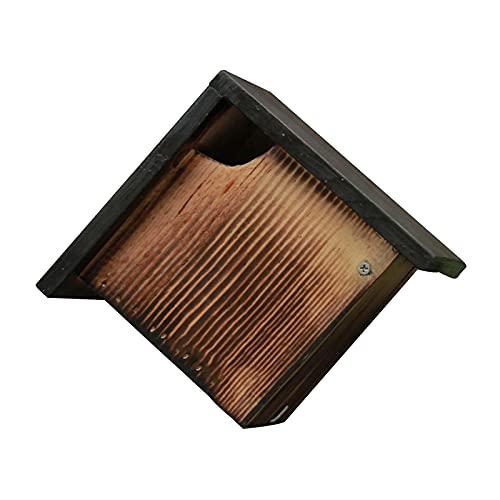 Gazechimp Jaula de pájaros de Madera en Mal Estado, Caja de incubación de Nido de pájaro montada en la Pared para Interior y Exterior