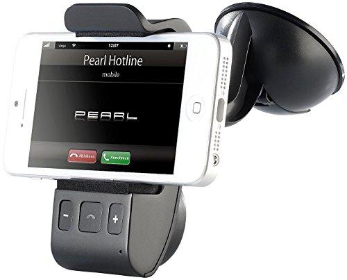 Callstel Freisprechanlage: Freisprecher BFX-40.H mit Bluetooth und Halterung für Smartphones (Freisprechanlage fürs Auto)