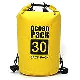 Micacorn Borsa Impermeabile, 30L Dry Bag Sacco Sacchetto Impermeabile con Cinghia Regolabile Lungo per Spiaggia, Trekking, Kayak, Pesca, Rafting, Nuoto, Snowboard