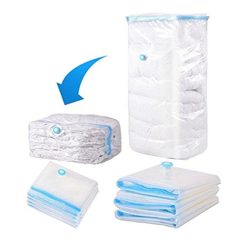 Bolsas de aspiradora para ropa en 5 tamaños – Bolsa para ropa de viaje para enrollar, sin aspiradora/bomba – Bolsa para la protección de la ropa de cama contra la humedad y polillas (80 x 100 cm)