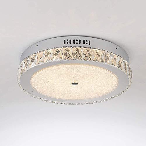 ZXHFDC Dormitorio de la Sala de Estar de Moda de Estilo Europeo Lámpara de Techo de Cristal, decoración del hogar Lámpara de Techo 36W (Color: luz cálida 3000k) [Energía A Nivel ++]