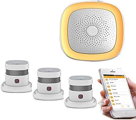 zigbee Detector de humo Fuego Sistema de alarma inalámbrica Estable Señal sentive zigbee WiFi EN14604 Detector