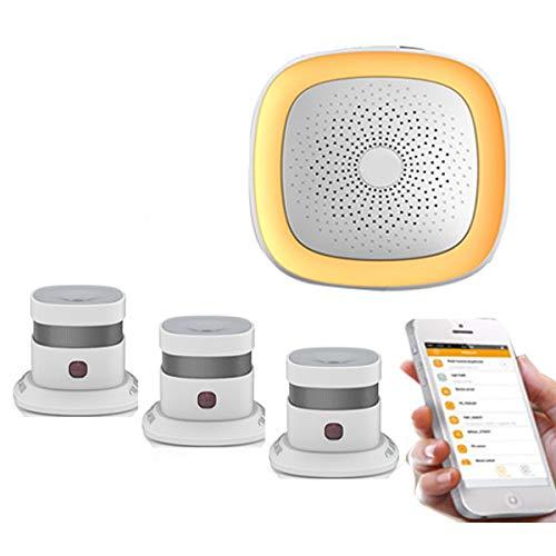 Zigbee Rauchmelder Feueralarmsystem drahtlose stabile Signal sentive Zigbee WiFi EN14604 Rauchmelder...