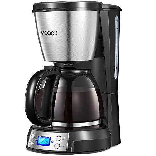 Aicook Cafetera, Cafetera Goteo, Cafetera Goteo Programable 12 Tazas con Jarra...