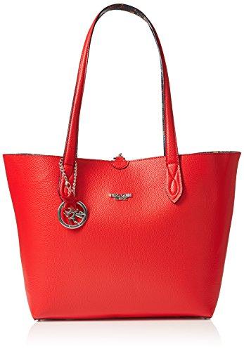 piero guidi Tote Bag + Busta, Borsa Donna, (Rosso Papavero), 34,5x29,5x14 cm (W x H x L)