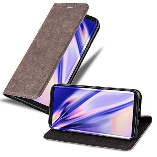 Cadorabo Hülle für Samsung Galaxy S8 - Hülle in Kaffee BRAUN – Handyhülle mit Magnetverschluss, Standfunktion & Kartenfach - Case Cover Schutzhülle Etui Tasche Book Klapp Style