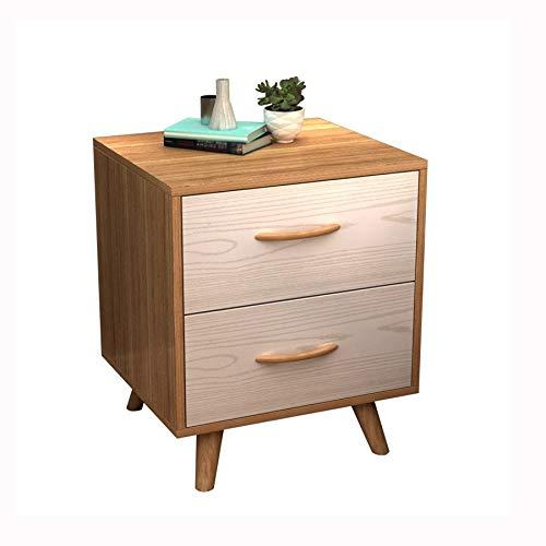 GZQDX Mini armario simple moderno simple de la mesita de noche, mesita de noche del diseño del cajón doble