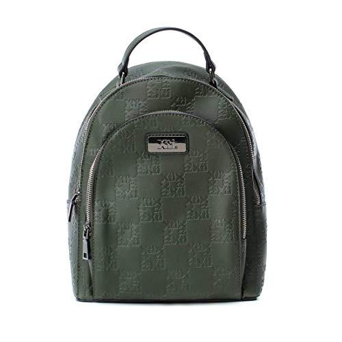 XTI 86141, Bolso mochila para Mujer, Verde (Kaki), 23x30x10