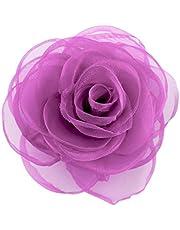 Merdia Donna Bella capelli clip del fiore Rosa Spille