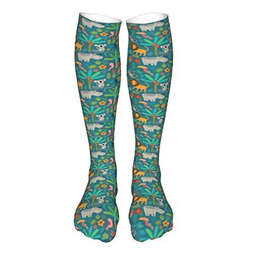 Calcetines de compresión para mujeres y hombres, animales de la selva, el mejor apoyo para correr, deportes, senderismo, viajes en vuelo, circulación