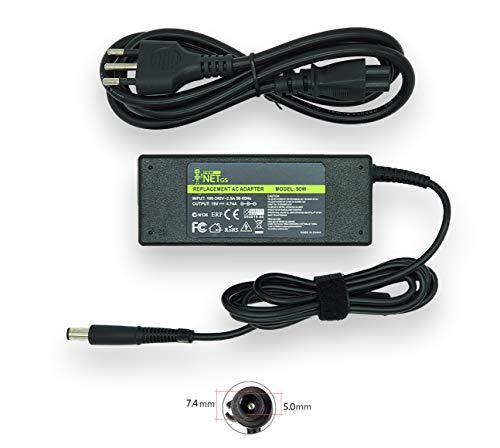 19V 4.74A 90W Alimentatore Caricabatterie compatibile con Pc HP Compaq CQ56 CQ57 CQ58 CQ60 CQ61 CQ62 CQ70 6715B 6720T 6730S 6735B Pavilion DV6 DV7 G4 G6 G7 G42 G60 G61 G62 G72 DM4 M6 [7,4 x 5,0 mm]