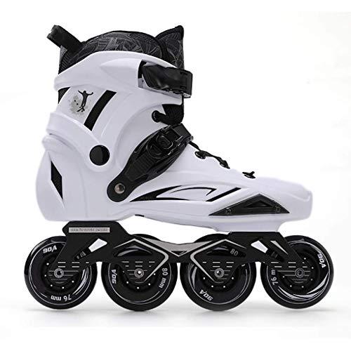 Taoke Männer und Frauen Inline Skates, Profi-Voll Fleisch Roller Skates Silent-Bearing (Farbe: weiß, Größe: 44) dongdong (Color : White, Size : 44)