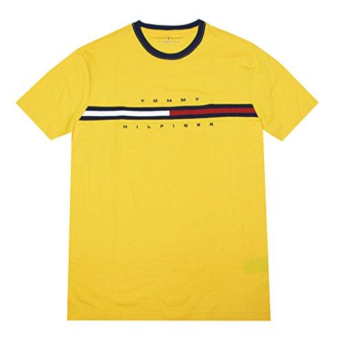 Tommy Hilfiger Herren T-Shirt Big Logo Classic Fit Gr. XL, gelb