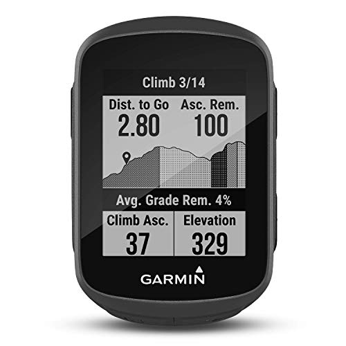 """Garmin Edge 130 Plus – kompakter, 33 g leichter GPS-Radcomputer mit 1,8"""" Display, präziser Datenaufzeichnung, Trainingsplänen, Navigation und MTB-Werten. Telefonbenachrichtigungen, bis zu 12 h Akku"""