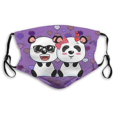 HOTBABYS Playful Pandas Reusable Activated Carbon Filter Face Covering with Replaceable Filter for Men Women Small
