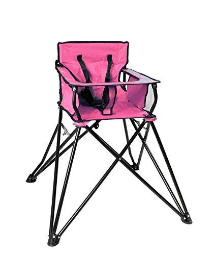 Vetrineinrete Sediolone Pieghevole per Bimbi da Campeggio gita in Montagna al Mare Pratico e Comodo seggiolone Sedia con tavolino per Bambino Bambina Viaggio Escursione (Rosa) F28